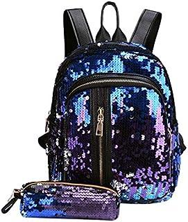 a913a7a038 Onemoret 2 pcs/lot de paillettes Sequins Sac à dos NEUF Teenage Filles Mode  Bling