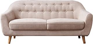 Romatlink Loveseat Sofa, Modern 2 Seater Sofa, Modern Upholstered Accent Sofa,  Polyeser Fabric Features Flared Arms, Button Tufted, Suitable for Small Spaces, Living Rooms or Bedrooms.