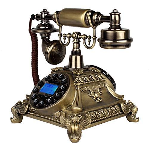 Interfono telefónico antiguo de cuerda. Teléfono retro / teléfono de línea rotativa / teléfono de estilo retro / teléfono antiguo / teléfono de escritorio clásico con marcador giratorio, disponible en