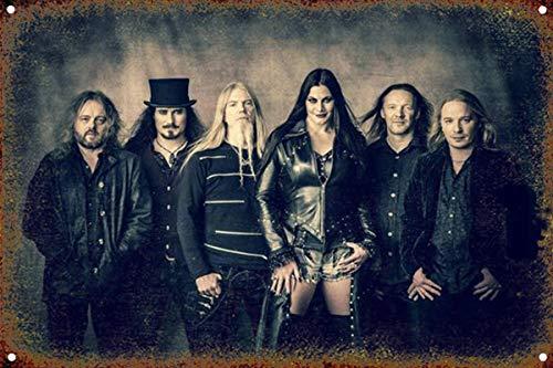 Nightwish Metallwand Zeichen Blechschilder Warnung hängen Vintage Kunst Folie Poster Band Malerei Promi Bar Cafe Garten öffentliches Geschenk