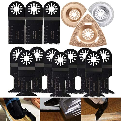 No branded 15pcs Saw Blade for Fein Multimaster B-o-SCH Multitool Oscillating Multitool Saw Blades Set Home Tool