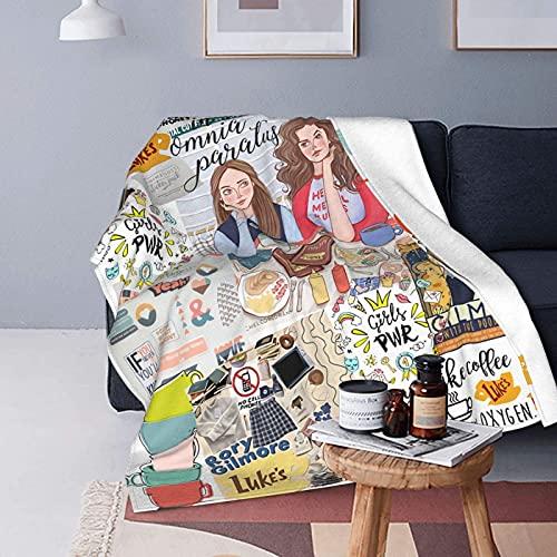 Gilmore - Coperta in pile super morbido per ragazze, per divano, 150 x 150 cm