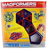 Toynk Magformers Classic 62-Piece Magnetic Construction Set (Red & Purple)