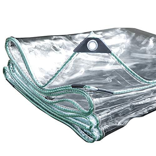 ZEMIN Bâche Protection Couverture Imperméable Pare-Brise Qualité Anti-Soleil Boutonnière Plastique PE, 6 Tailles (Color : Clear, Size : 0.8x5.8m)