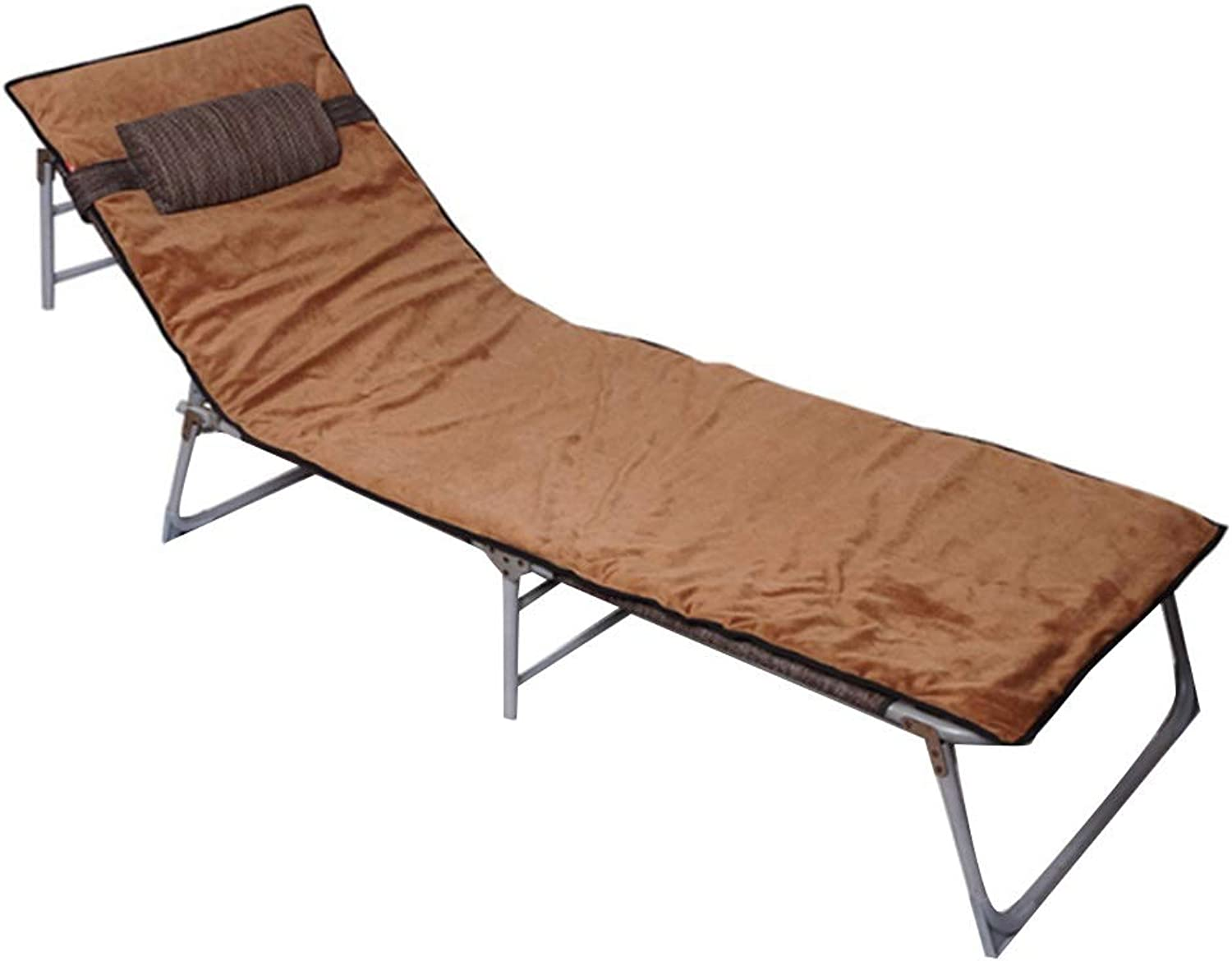 Folding Bed Camping Bed Office Lunch Bed Adult Single Bed Outdoor Beach Bed Hospital Accompanying Bed Can Bear 200 Kg (color   B, Size   193  63  30cm)