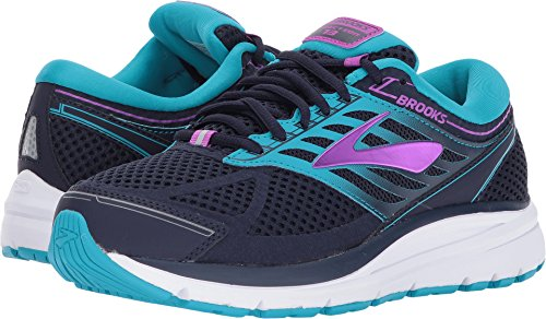 Brooks Women's Addiction 13 Evening Blue/Teal Victory/Purple Cactus Flower 9.5 B US