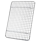 Cooling Rack For Baking, Aisoso Baking Rack with 18/8 Stainless Steel Bold Grid Wire, Multi Use Oven Rack Fit Quarter Sheet Pan, Oven and Dishwasher Safe, 8.5 x 12 Inches