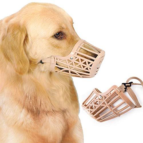 N/B Bozal De Mascota Ajustable Golden Retriever A Prueba De Mordida para Cachorro De Perro Grande Pequeño Bozal De Perro Grande 4 Trajes para 7.5-10 Kg