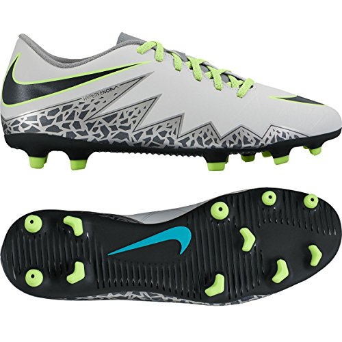 Nike Herren Hypervenom Phade II FG Fußballschuhe, Plateado (Pure Platinum/Black-Ghost Green), 40 EU