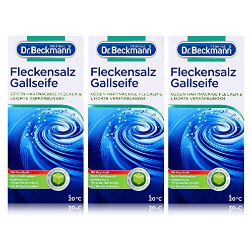 Dr. Beckmann fläcksalt | mot hårda fläckar och lätta färgningar | för tvättmaskin och blötläggning | med galltvål, 3-pack (3 x 500 g)