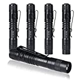 XY ZONE Ultra Slim LED Flashlights XP-1 XPE-R3 1000LM Mini Clip Lamp Penlight Torch Powered by 1 x AAA 5Pcs (Battery not include)