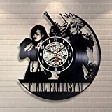 La Bella Casa Final Fantasy Role-Playing Video Game Clock Gift Modern Wall Clock Gift Friendship Gift Thanks Gift for Him and Her Original Handmade Vintage Gift Modern Nursery Decor Gift