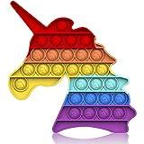 Bdwing Silicona Sensorial Fidget Juguete, Push Bubble Sensory Toy Empujar Pop Burbuja Sensorial Fidg...