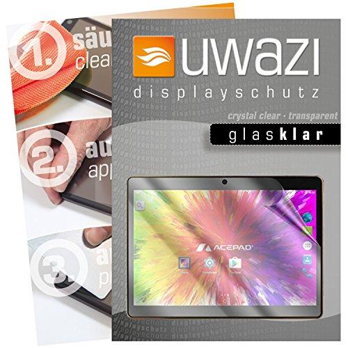 Acepad A121 Schutzfolie 3x uwazi glas-klare Displayschutzfolie Folie
