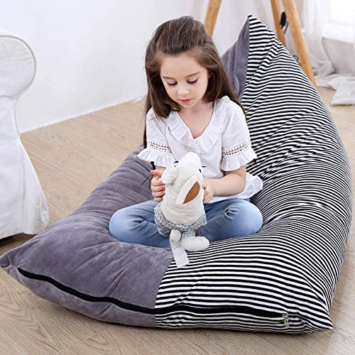 KOLACEN Stuffed Animal Toy Storage Bean Bags Soft Foldable Chair Sofa Seat Cover for Kids Children Large Capacity