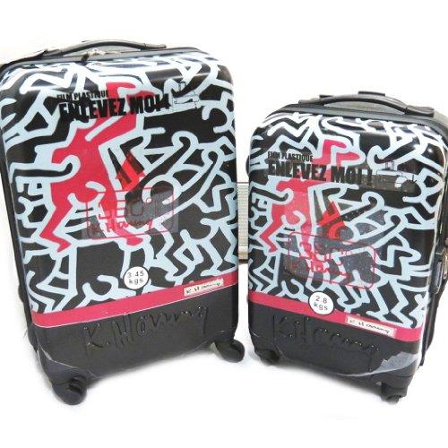 Set 2 maletas abs 'Keith Haring'graffitis (46/56 cm).