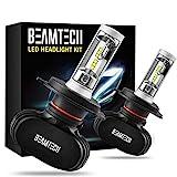BEAMTECH H4 LED Headlight Bulbs,9003 HB2 CSP Chips Headlamp 50W 6500K 8000Lumens Car