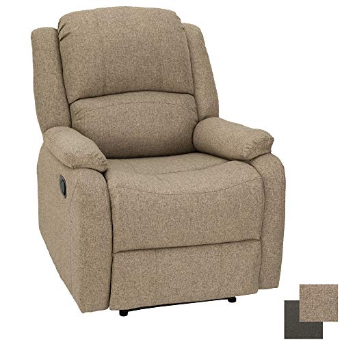 RecPro Charles Collection | 30' Zero Wall RV Recliner | Wall Hugger Recliner | RV Living Room (Slideout) Chair | RV Furniture | RV Chair | Cloth (1 Chair, Oatmeal)