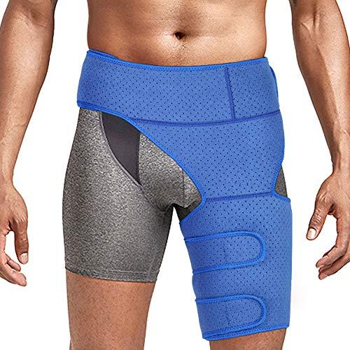 Muslera, Soporte muslo, soporte de compresión para muslo cadera, soporte para la ingle del muslo, manga de compresión para muslo, recuperación y rehabilitación de dolor ingle para hombres y mujeres