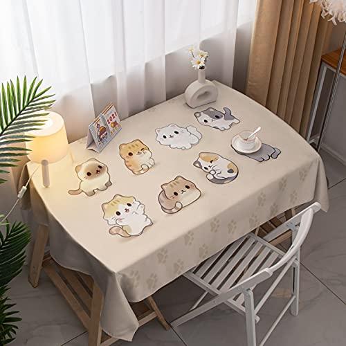 LIUJIU Mantel clásico de lino con estampado de flores, a prueba de polvo, rectangular, para bodas, fiestas, hoteles, mesas, tamaños surtidos, 140 x 240 cm
