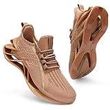 incarpo Zapatillas de deporte para hombre, ligeras, transpirables, para correr, para calle., color Amarillo, talla 44 EU