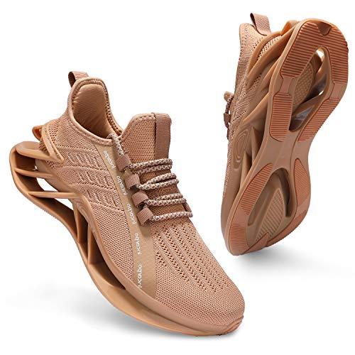 incarpo Zapatillas de deporte para hombre, ligeras, transpirables, para correr, para calle., color Amarillo, talla 39 EU