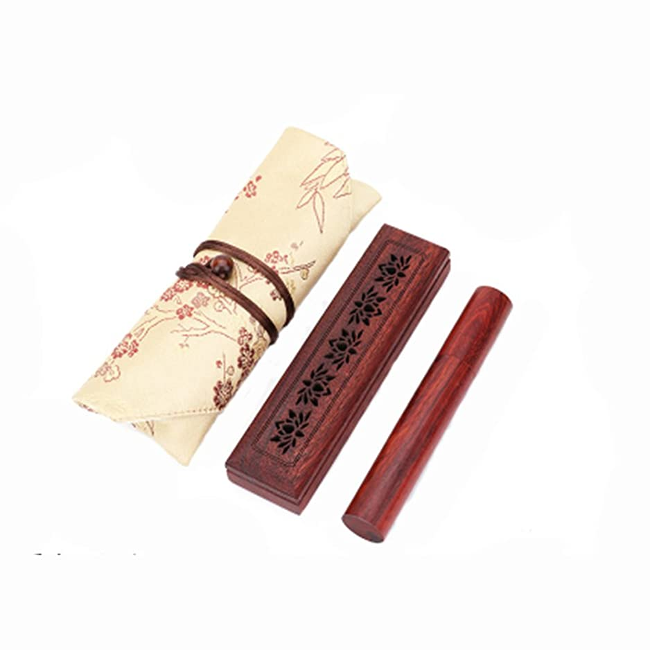 KagoMsa お香箱 木製 お香立て おしゃれ インセンス インド 高級感 インテリア ハンドクラフト インド雑貨 アジアン雑貨 プレゼント セット スティック(6種類)