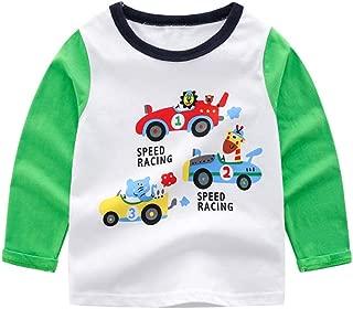 WOCACHI Toddler Kids Boys Shirts, Long Sleeve Dinosaur Tops Crewneck Sweatshirt