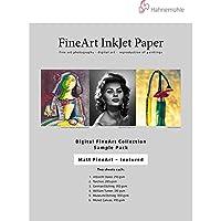 (Matte Textured Sample Pack) - Hahnemuhle Matte FineArt Textured Archival Inkjet Paper Sample Pack, 22cm x 28cm, 12 Sheets