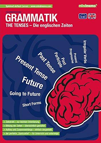 mindmemo Lernfolder - The Tenses - Die englischen Zeiten Grammatik lernen für Kinder und Erwachsene Lernhilfe Zusammenfassung PremiumEdition foliert ... Lernhilfe - PremiumEdition (foliert)