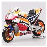 Boutique 1/18 para HO┐NDA 2018 Repsol RC213V HRC No # 26 Dani Pedrosa No # 93 Marc Marquez Motocicleta Carreras Modelo Juguete Fundido A Presión (Color : Burst)