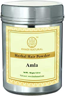 Khadi Natural Herbal Organic Amla Powder Latest International Packaging (150 g)