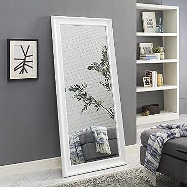 Naomi Home Framed Floor Mirror White