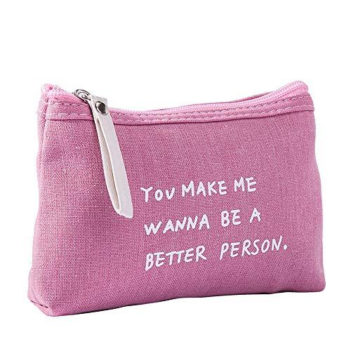 Wangxin Cosmetic Bag Multifunctionele Canvas Letter Doek Rits Kaartzak Mobiele Telefoon Tas Toilettas Make-up Opbergtas
