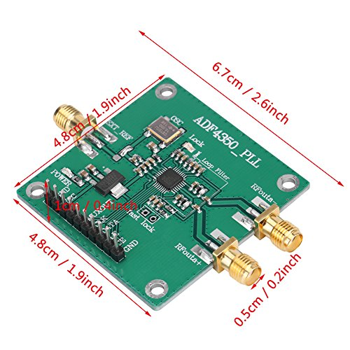 Frequency Synthesizer, Asixx 137M-4.4GHz RF Signal Source Phase Locking Loop Frequency Synthesizer ADF4350 Development Board Durable Construction for Long-Lasting Performance