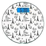 Escala digital de peso corporal de precisión Ronda París Báscula de baño de...