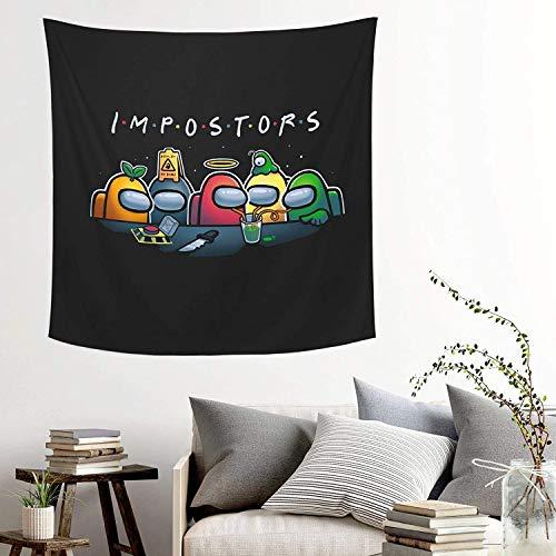YeeATZ Divertido tapiz para colgar en la pared, diseño de impostor, para dormitorio, sala de estar, playa, manta de playa, manta popular, 149 x 149 cm