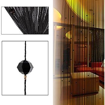 Rose La Cabina Rideau de Fil Cha/îne d/écorative Rideau Perles Panneau Mural Fen/être Porte Salle de Frange 100 x 200 cm