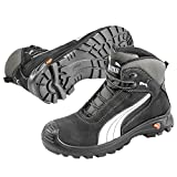 Puma Safety Shoes Cascades Mid S3 HRO SRC, Puma 630210-202 Unisex-Erwachsene Sicherheitsschuhe, Schwarz (schwarz/weiß 202), EU 42