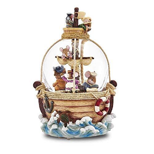 zhuao Boîte De Musique De Boule De Cristal, Boîte D'Octave De Carrousel, Cadeau D'Anniversaire De Fille Aventures de Voile