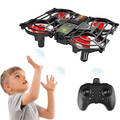 LYHLYH Mini-Drone pour Les Enfants et Les débutants, Le modèle d'induction à Hauteur Fixe Avion Jouet Quatre Axes Intelligent, sans Interface Réglage de la Vitesse 5 capteurs intelligents