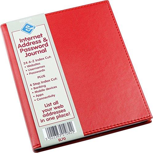 Esposti - Rubrica personale per indirizzi elettronici e password - Rosso - 145 mm x 178 mm
