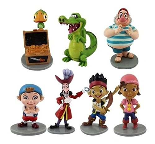 Jake Pirates Playset 7 Figure Cake Topper Toy Doll Set
