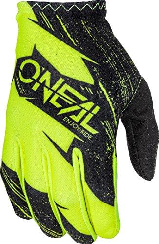 O'NEAL | Fahrrad- & Motocross-Handschuhe | Kinder | MX MTB FR Downhill Freeride | Langlebige, Flexible Materialien, belüftete Handoberseite | Matrix Youth Glove Burnout | Schwarz Neon-Gelb | Größe L