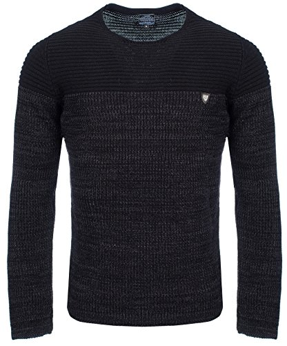 Carisma Herren - Strickpullover 7288 Streetwear Menswear Autumn/Winter Knit Knitwear Sweater CRSM CARISMA Fashion- Gr. L, Black