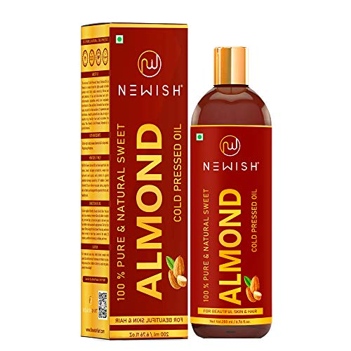 Newish® Pure Cold Pressed Sweet Almond Oil for Hair and Skin 200 ml (Pack of 1)
