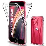 Gnews Funda para iPhone SE 2020, Funda para iPhone 7 iPhone 8, Transparente Silicona 360° Protectora Carcasa para iPhone SE 2020/ iPhone 7/ iPhone 8