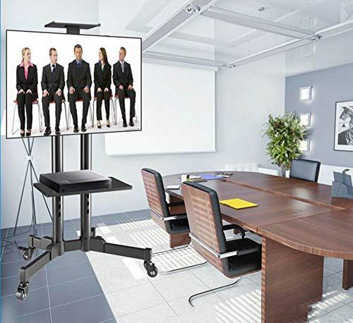 XUEXIONGSP Rolling TV Winkelwagen met Wielen voor 32-70 Inch LCD LED OLED Flat Panel Plasma Screens Mobiele Vloer TV Stand met Hoogte Verstelbare Plank Houdt Tot 110 Lbs