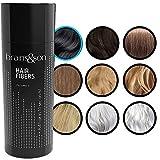 Fibras Capilares - Keratin Fibers 100% Natural para Disimular Calvicie y Aumentar el volumen. Maquillaje Capilar por hombres y mujeres - 25 Gramos Neto (NEGRO)