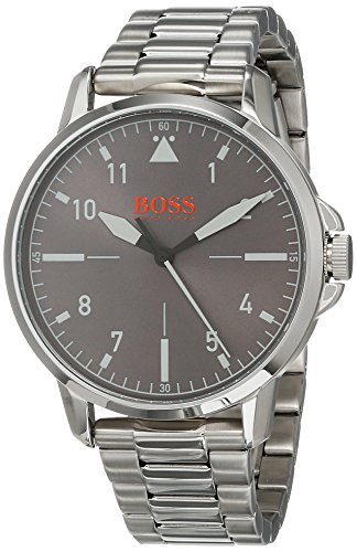 Hugo Boss Oranje Unisex-Adult Analoog Klassiek Quartz Horloge met RVS Band 1550064